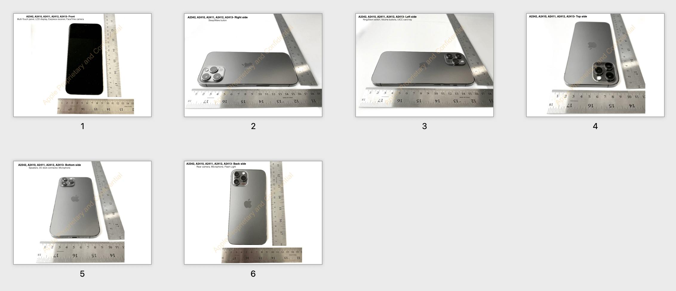 FCC 披露的 iPhone 12 Pro 外部照片