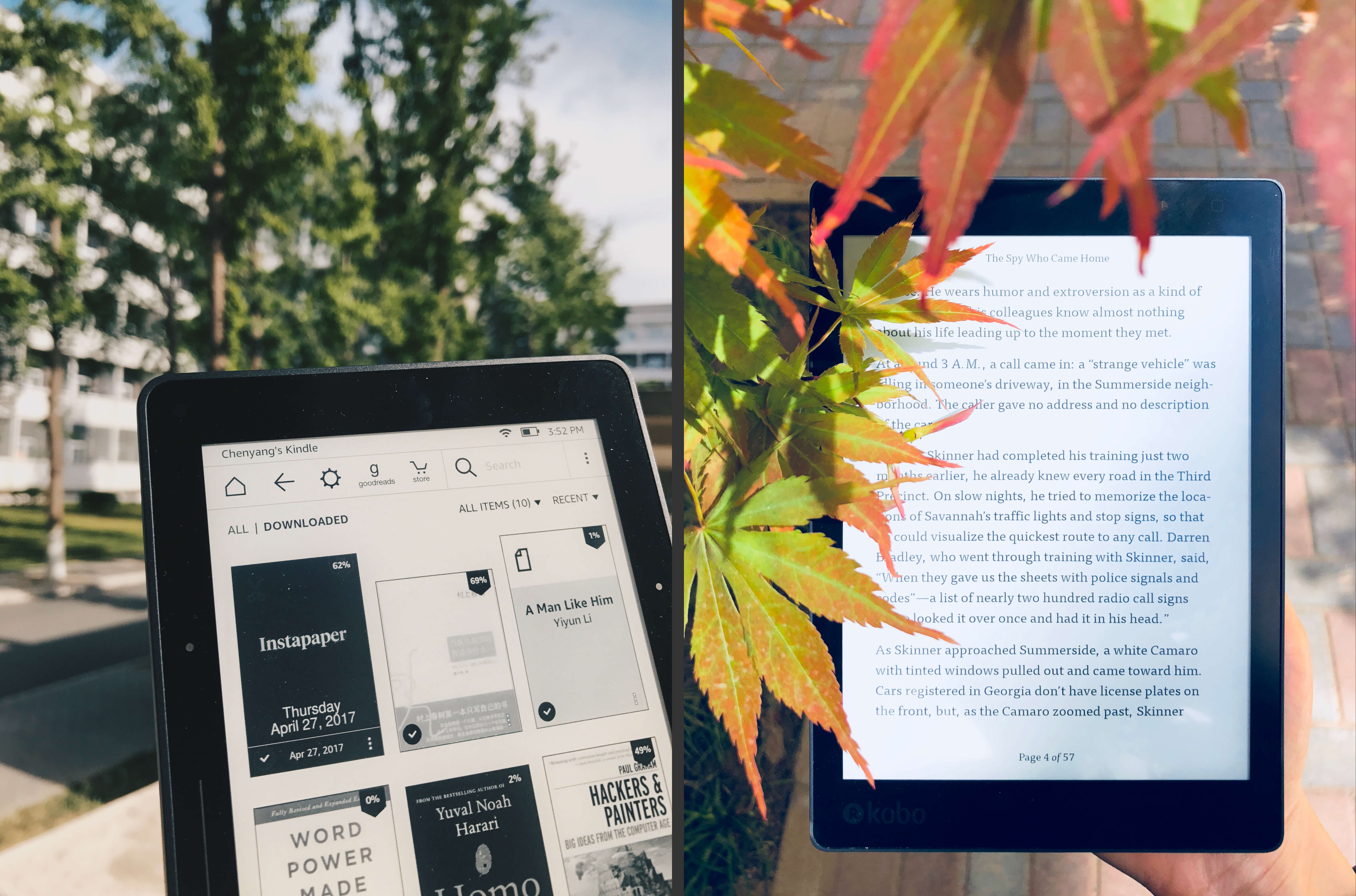我陆续用过的 Kindle Voyage 和 Kobo Aura ONE,放在今天仍然堪用