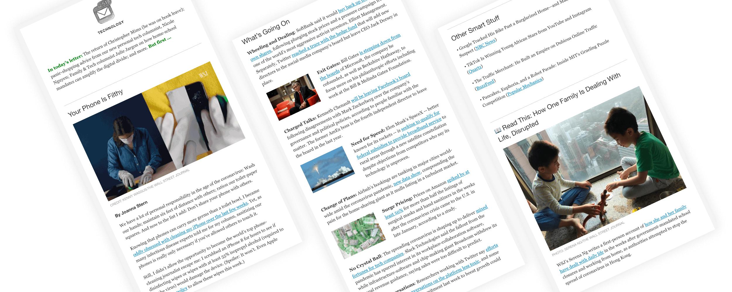 WSJ 科技版的《Tech Weekly》邮件周报