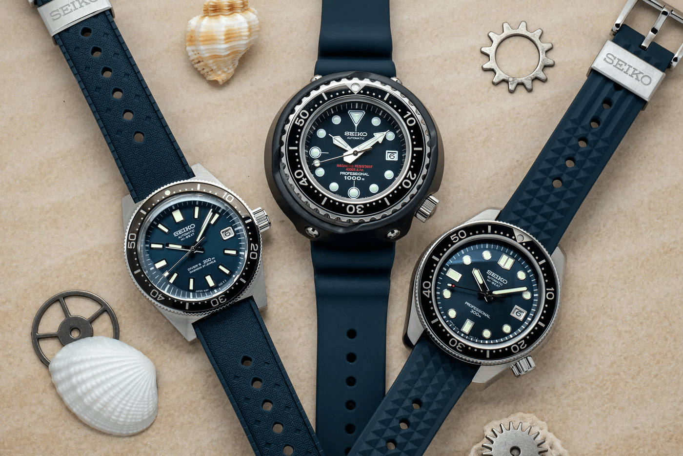 Three Seiko 55th Anniversary Dive Watches